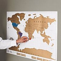 Unique wedding gift for couple stratch off travel by themaplab scratch off world map poster gumiabroncs Gallery