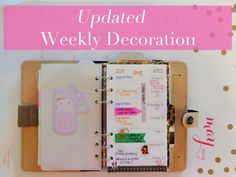 Update | Filofax Original Weekly Decorations + Piaric Inserts