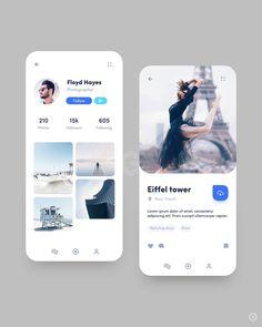 Design is art Web Design, App Ui Design, User Interface Design, Graphic Design, Branding, Profile App, Ui Design Mobile, Card Ui, App Design Inspiration