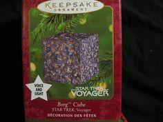 Hallmark Keepsake Magic Ornament - Star Trek Voyager Borg Cube