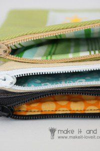 TUTORIAL! zippered pouches - with personalized vinyl