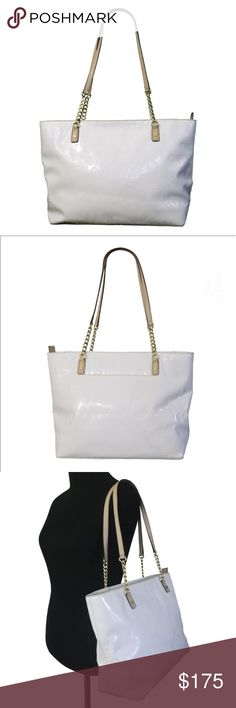 """NWT Michael Kors JET SET WHITE SHOULDER BAG ✅NEW WITH TAGS🆕 Adorable Color!! Beautiful style. Excellent bag to use for office and for daily use. Size 15""""x11""""x5"""". Pet smoke free home.  AUTHENTIC❣️LEATHER ❣️FAST SHIPPING!❣️MAKE AN OFFER  Please see my other listings. Bundle & save🎉 I have over 300 different listings with more to come.🎯 MICHAEL Michael Kors Bags Shoulder Bags"""