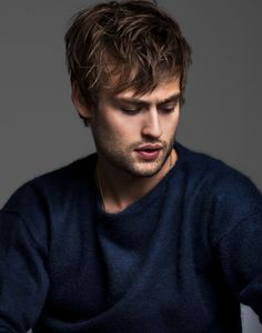 Douglas Booth photographed by Justin Campbell.