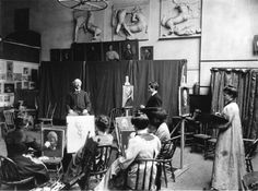 Pennsylvania Academy of the Fine Arts Portrait class, 1901.