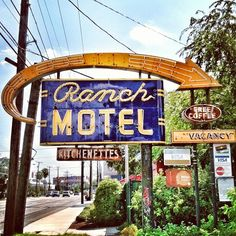 Ranch Motel -- vintage neon sign -- in San Antonio, Texas by MOLLYBLOCK, via Flickr