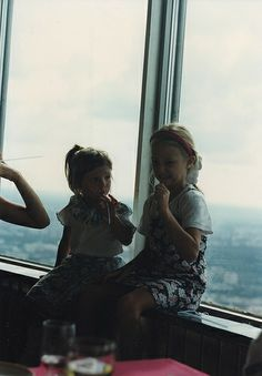 Lyubs and Dasha in Moscow 1997 2