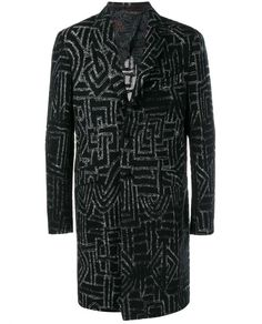 ETRO Wool Silk-Blend Long Coat