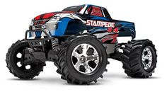 Hobby RC Trucks - Traxxas Stampede 110 Scale Monster Truck with TQ Radio Silver -- Be sure to check out this awesome product. Rc Cars And Trucks, 1 10 Scale, Radio Control, Red And Blue, Monster Trucks, Racing, Toys, Remote, High Ground