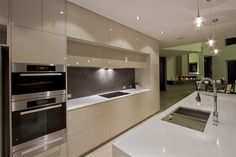 The title of this image is German Engineering Ultra Modern Kitchen Designs. It's actually just one of several fine design samples in the post titled Modern Home Kitchen Designs.