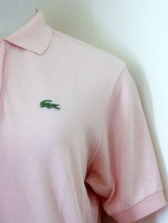 Retro 1980's Light Pink Retro Izod Lacoste Polo by rockvintagesoul     I actually owned a few of these, but I was NOT Preppy!