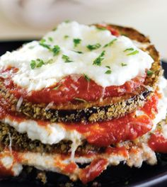 Just as indulgent as the original, our un-fried eggplant is smothered in layers of sauce and cheese.