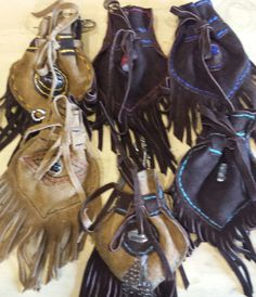 Medicine Bags for your crystals and keepsakes.  clips on your jean loop.