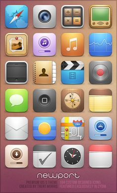 Newport for iOS 5 by ~trentmorris on deviantART - 25 Most Wanted GUI PSD Design Kits for iPhone