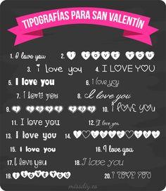 Tipografías para San Valentín. Free fonts for Valentine's day.