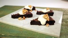 Flourless Chocolate Cake with Peanut Brittle Recipe (Gluten free)| The Chew - ABC.com