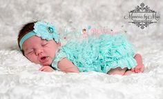 Baby girls' clothing 2pcs Light Aqua Lace Petti by HappyBOWtique