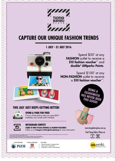 Tiong Bahru Plaza Fashion Trends Singapore Contest 1 to 31 Jul 2016 | Why Not Deals