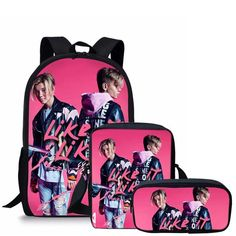 Marcus And Martinus Printing School Bags Set Backpack Teenager Girls Hip Hop Girl, Funny Xmas Gifts, Presents For Women, Shoulder Bags For School, Bags 2018, Kids Hands, Kids Backpacks, Girl Gifts, School Bags