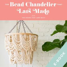 chandelier The Bead Chandelier That Lars Made, E-Book French Country Chandelier, Wood Bead Chandelier, Chandeliers, Boho Baby, Bead Crafts, Diy Crafts, Bead Art, Design Crafts, Accent Pieces