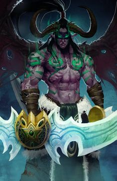 "Illidan Stormrage.  ""Neither night elf nor demon, but something more""  -  Maiev Shadowsong"