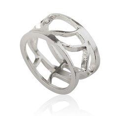 leaf silver ring