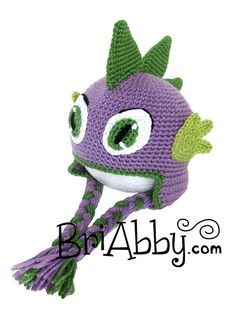 Friendly Dragon or Dinosaur Hat Crochet Pattern (PDF FILE)