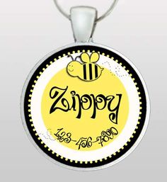 Back by popular demand!  Bumble bee design Pet ID Tag.  Custom name & phone number.