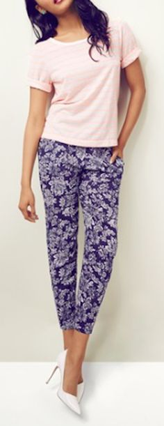 cute #purple print pants http://rstyle.me/n/jwihvr9te