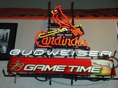 Bud Weiser St. Louis Cardinals Game Time MLB Sports Neon Sign Real Neon Light