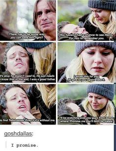 Once Upon A Time, saddest day for Emma , even when if she woulda choose hook when he was alive