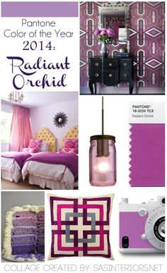 "Pantone Color of the Year 2014: the ""captivating, magical, enigmatic purple color"" of Radiant Orchid"