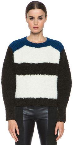 ISABEL MARANT White Owel Teddy Knit Pullover - Lyst