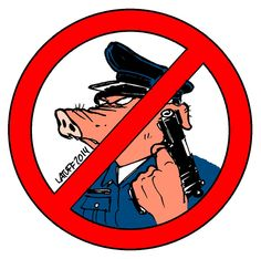 """""""No more pigs in our community!"""" Black Panthers quote applies to today's #Ferguson. (Por Carlos Latuff)."""