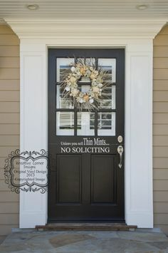 Unless You Sell Thin Mints No Soliciting Vinyl by KreativeCorner, $8.00