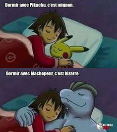 Dormir avec Pikachu, c'est mignon...