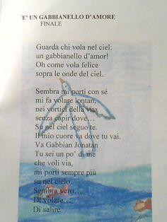 """Testo Finale del Musical """"Il Volo del Gabbiano"""" per la Scuola Elementare - I° Ciclo - Musica e libretto Vito Mastrorosa"""