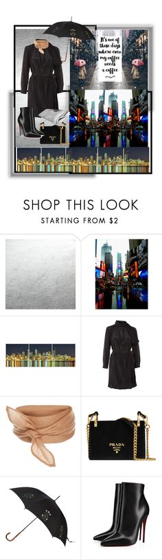 """It's raining in New York"" by acpcxx ❤ liked on Polyvore featuring Topshop, Prada, Alexander McQueen and Christian Louboutin"