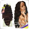 """2 Packs/lot Free Curly Lace Closure Ombre Noble Golds Egyptian Natural Deep Loose Wave Synthetic Hair Extension Weave 14""""/16"""" 1B"""