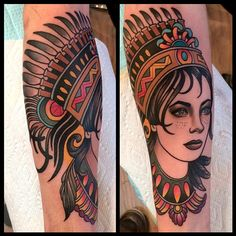 7f34dbbec woman with headdress tattoo by dave wah at stay humble tattoo company in  baltimore maryland