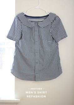 Gingham Men's Shirt Refashion  // Michael Ann Made