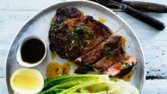 Steak with 'home sauce'