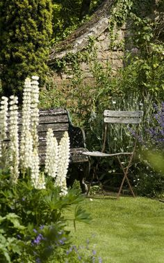 a mill house garden in Oxfordshire