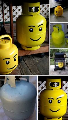 I love lego  (http://weburbanist.com/2012/10/28/grill-gas-flash-15-prettily-painted-propane-tanks/)