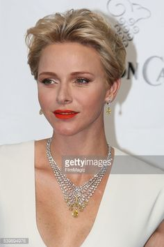 Nachrichtenfoto : Princess Charlene arrives at the 56th Monte Carlo...