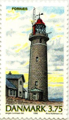 #Lighthouse - #Faros daneses: Faro de Fornaes, Dinamarca 1996 - #Denmark http://dennisharper.lnf.com/