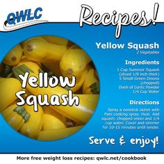 Deliciously savory yellow squash.  Find more weight loss recipes at http://quickweightloss.net/recipes
