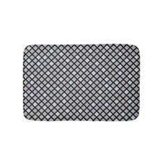 Diamonds - Harbor Mist Grey & Beau Blue Bathroom Mat - pattern sample design template diy cyo customize