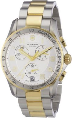 Victorinox Swiss Army Men's 241509 Chrono Classic Two Tone Chronograph Dial Watch: Watches: Amazon.com