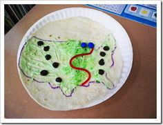 edible maps great for labeling the major landforms of the us