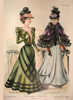 would make a nice book full of sketches in the sewing room...delineator magazine 1898